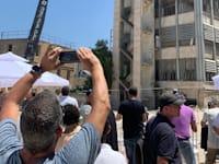 ההריסה של בניין הטלויזיה ברוממה ירושלים / צילום: גלית סער קמיאל
