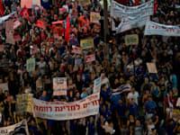 הפגנה נגד יוקר המחיה, אוגוסט 2011, תל אביב / צילום: Associated Press, Ariel Schalit