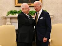 """ג'ו ביידן וראובן רובי ריבלין / צילום: חיים צח לע""""מ"""