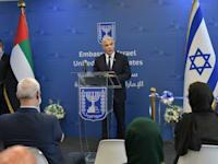 """שר החוץ, יאיר לפיד חונך את שגרירות ישראל באבו דאבי / צילום: שלומי אמסלם-לע""""מ"""