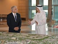 שר החוץ של האמירויות עבדאללה בין זאייד ושר החוץ יאיר לפיד / צילום: שלומי אמסלם