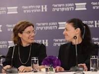 מרב מיכאלי ותמר זנדברג / צילום: המכון הישראלי לדמוקרטיה