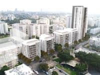 """פרויקט פינוי בינוי ברחוב תקוע 11-33 בשכונה נווה אליעזר בדרום מזרח ת""""א / צילום: סטודיו מיא אדריכלים"""