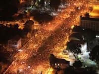 הפגנה בעת מחאה החברתית / צילום: Associated Press, Ariel Schalit