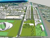 הדמיית תוכנית הבנייה בשדה התעופה הישן באילת / צילום: רשות מנהל מקרקעי ישראל