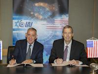 מעמד טקס החתימה שנערך בתעשייה האווירית / צילום: אלון רון/התעשייה האווירית