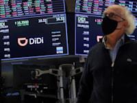 הנפקת דידי בבורסה בניו יורק בשבוע שעבר / צילום: Reuters, BRENDAN MCDERMID