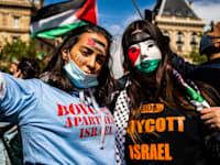 הפגנה פרו-פלסטינית בפריז במאי האחרון / צילום: Reuters, Xose Bouzas / Hans Lucas