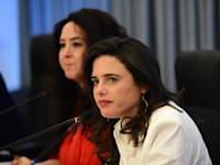 """איילת שקד בתדרוך לעיתונאים לגבי העתיד הצפוי לתמ""""א 38 / צילום: יוני קלברמן"""