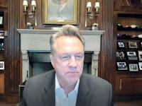 """ג'ון וויליאמס, נשיא הפד  של ניו יורק במהלך הכנס / צילום: צילום מסך מתוך כנס בינלאומי שנערך ע""""י בנק ישראל בשיתוף ה-CEPR"""