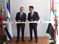 שגריר האמירויות בישראל מוחמד אל חג'א ונשיא המדינה יצחק הרצוג / צילום: בית הנשיא
