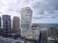 """הדמייה של המגדל ברחוב הירקון 33-37 / צילום: יח""""צ ישראל קנדה"""