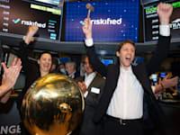 """מנכ""""ל ריסקיפייד עידו גל בטקס פתיחת המסחר בבורסת ניו יורק / צילום: CRC MEDIA"""