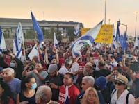 """חקלאים מההפגנה / צילום: יח""""צ"""