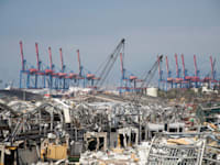 ההרס בנמל ביירות לאחר הפיצוץ / צילום: Shutterstock, Hussein Kassir