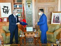 שר החוץ המרוקאי נאסר בוריטה ושר החוץ הישראלי יאיר לפיד / צילום: שלומי אמסלם, לע''מ