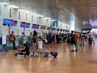 נתב''ג בזמן הקורונה. הכמיהה לטיסות היא המשך לשיא היציאות לחו''ל ב־2019 / צילום: מיכל רז חיימוביץ