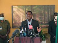 נשיא זמביה הנבחר הקאינדה היצ'ילמה / צילום: Associated Press, Tsvangirayi Mukwazhi