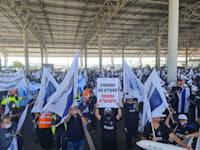 ההפגנות בנתבג / צילום: קרדיט ועד עובדי אל על