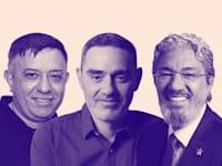 חזי בצלאל, אבי צבי, אבי גבאי / צילום: רמי זרנגר, כפיר סיון, ישראל שם טוב