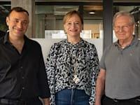 השותפים בסילבר קסטל (מימין): מיזרוח, רביד וזיו / צילום: כדיה לוי