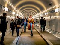 הקורונה בהמבורג / צילום: Associated Press, Michael Probst