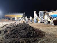 דליפת דלק בקצא''א בקו החברה במועצה האזורית חוף אשקלון, מוקדם יותר השנה / צילום: המשרד להגנת הסביבה