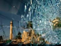 שימשת מכונית מחוררת בלוד. 78 ערבים ישראלים נרצחו מתחילת השנה / צילום: Associated Press, David Goldman