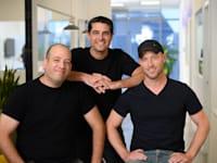 מייסדי ג'יפיטי: יעקב מרטין (מימין), מאיר דודאי, שאול וייסבנד / צילום: יח''צ