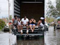 הצפות בלואיזיאנה בעקבות הוריקן איידה / צילום: Associated Press, Gerald Herbert
