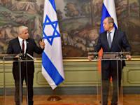 יאיר לפיד ושר החוץ של רוסיה, סרגיי לברוב / צילום: שלומי אמסלם-לע''מ