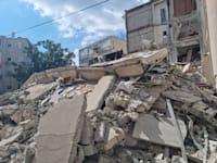 הבניין שקרס ברחוב סרלין 38 בחולון / צילום: עיריית חולון