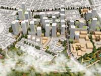 תוכנית ההתחדשות בשכונת יוספטל בפתח תקווה / הדמיה: בר לוי דיין אדריכלים