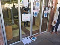 כך נאלצו להגיש היום אחהצ ארגון הרופאים המתמחים, את 2500 מכתבי ההתפטרות של המתמחים / צילום: תמונה פרטית