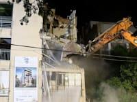 הריסת הבניין ברעננה / צילום: דוברות עיריית רעננה