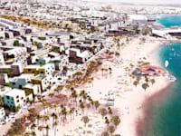 הדמיה רעיונות של האזור לאחר פינוי בסיס חיל הים באילת / הדמיה: רשות מקרקעי ישראל