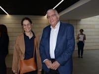 אלחנן רוזנהיים, מנכ''ל פרופימקס, ואלונה בר און, יו''ר גלובס, בוועידת האמון / צילום: איל יצהר