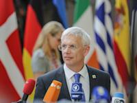ראש הממשלה הלטבי ארטורס קרישיאניס קרינש / צילום: Reuters, Nicolas Economou