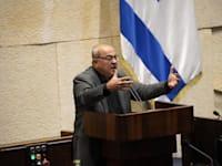 ח''כ אחמד טיבי נואם בכנסת, השבוע / צילום: נועם מושקוביץ, דוברות הכנסת