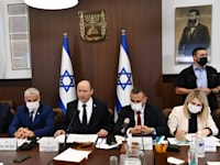 ראש הממשלה, נפתלי בנט, בפתח ישיבת הממשלה / צילום: חיים צח-לע''מ