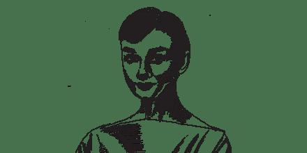 אודרי הפבורן / איור: גיל ג'יבלי