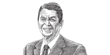 רונלד רייגן / איור: גיל ג'יבלי
