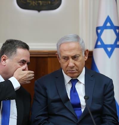 בנימין נתניהו + ישראל כץ / צילום: אלכס קולומויסקי-ידיעות אחרונות
