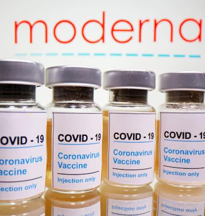 אילוסטרציה של החיסון לקורונה של מודרנה / צילום: Reuters, Dado Ruvic