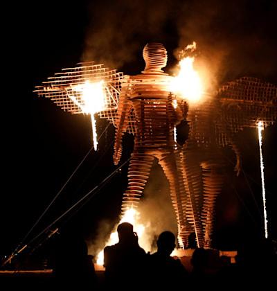 פסטיבל ברנינג־מן בנבאדה / צילום: Reuters, RONEN ZVULUN