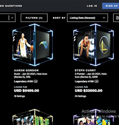 צילום מסך מאתר NBA top shot