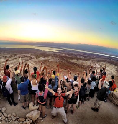קבוצת תגלית בטיול בארץ. יש הזדמנות למנף את המצב ולשקם את התיירות / צילום: באדיבות תגלית