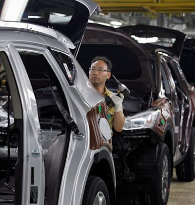 מפעל יונדאי בדרום קוריאה. הסכם הסחר ישראל־דרום קוריאה יסייע ליבואנים / צילום: Reuters, Lee Jae Won