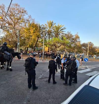 הפגנה ביפו / צילום: דוברות המשטרה