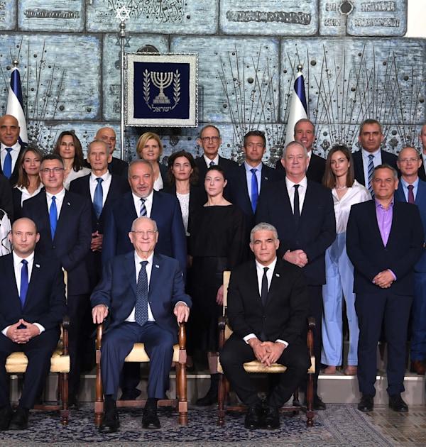 """ממשלת ישראל בבית הנשיא בירושלים / צילום: אבי אוחיון - לע""""מ"""